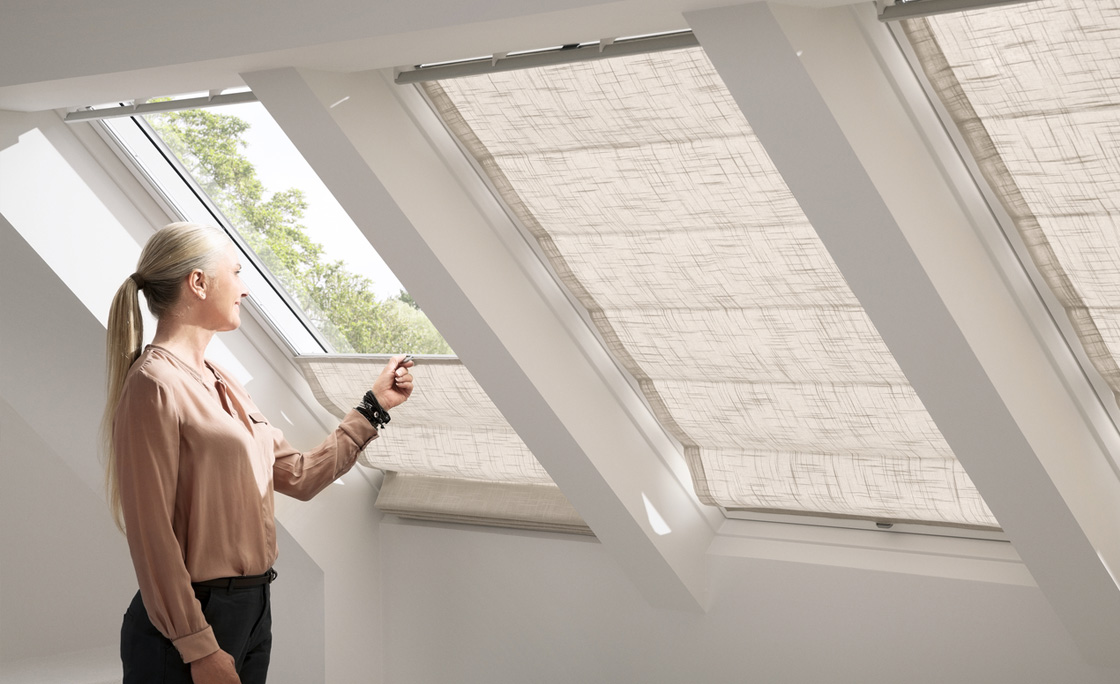 Buy coverings for your Velux windows in your loft conversion